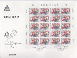 Faroe Islands 1985 FDC Europa CEPT Complete Sheet (LAR5-69) - Europa-CEPT