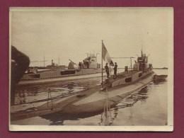 011019 - MILITARIA GUERRE SOUS MARIN - PHOTO 1929 ALGERIE ALGER Le Romazotti Et Le Regnault - Submarines