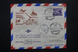 LUXEMBOURG - Enveloppe 1er Vol Luxembourg / Nice / Madrid En 1956 - L 42547 - Lussemburgo