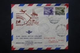 LUXEMBOURG - Enveloppe 1er Vol Luxembourg / Nice / Madrid En 1956 - L 42548 - Lussemburgo