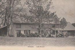CPA  74 CROISETTE LA SALEVE CAFE BRAND BELLE TERRASSE ANIMEE - Non Classificati