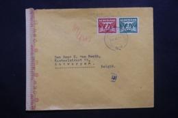PAYS BAS - Enveloppe De Gravenhage Pour La Belgique En 1944 Avec Contrôle Postal Allemand - L 42552 - Periode 1891-1948 (Wilhelmina)