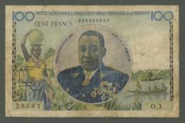 Billet De 100 F Afrique Equatoriale Française Et Cameroun . Gouverneur Général Félix Eboué . - Kameroen