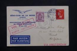 PAYS BAS - Carte Retour Du Vol Spécial Namur / Amsterdam En 1947 - L 42555 - Periode 1891-1948 (Wilhelmina)