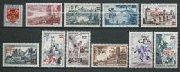 REUNION 1955/56 . Série N°s 320 à 330 . Neufs ** (MNH) - Réunion (1852-1975)