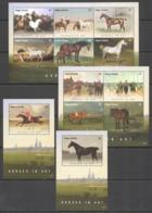Y155 2015 ANTIGUA & BARBUDA HORSES IN ART #5253-64 MICHEL 47 EURO 2KB+2BL MNH - Horses
