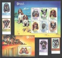 Y156 ANTIGUA & BARBUDA FAUNA DOGS #3131-40 MICHEL 23 EURO 1KB+1BL+1SET MNH - Honden