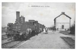 SENONCHES - La Gare (beau Plan Train En Gare, Machinistes Et Quai Animé) - Andere Gemeenten