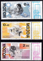 Moldau, 1994, 118/20, MNH **, Tag Der Briefmarke. - Moldavie