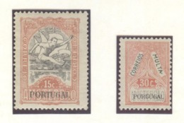 Portugal Olympic Stamps Mint Without Hinge The First Stamp With Olympic Rings Over The Head Of The Runner And TAX Stamp - Summer 1928: Amsterdam