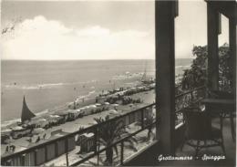W4928 Grottammare (Ascoli Piceno) - Panorama Della Spiaggia - Beach Plage Playa Strand / Viaggiata 1957 - Italia