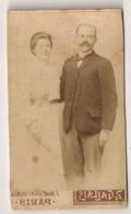 PHOTO CDV PHOTOGRAPHE D'ART R GALLES   / COUPLE    B879 - Personnes Anonymes