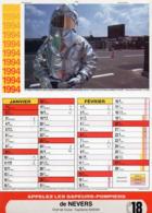 CALENDRIER  LES SAPEURS- POMPIERS DE NEVERS  Année 1994 Grand Format  6 Pages  Avec Photo - Calendriers