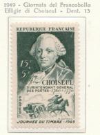 PIA - FRAN : 1949 : Giornata Del Francobollo - Effigie Di Choiseul - (Yv 828) - Giornata Del Francobollo