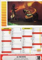 CALENDRIER  LES SAPEURS- POMPIERS DE NEVERS  Année 1995 Grand Format  6 Pages  Avec Photos - Calendriers