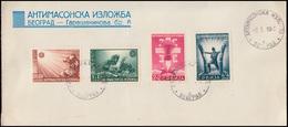 Serbien 58-61 Anti-Freimaurer-Ausstellung, Umschlag Typ I SSt BELGRAD 3.1.1942 - Besetzungen 1938-45