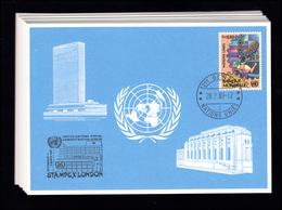 UNO Genf Blaue Karten Jahrgang 1989, Set Nummer 189-200 Komplett - Genf - Büro Der Vereinten Nationen