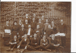 Ahin - Ben-Ahin - Photo Collée Sur Carton - Chorale D'Ahin - Mr Ch. Cuiot En 1906 - Format: 22.5/16cm - Huy