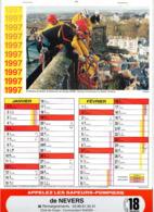 CALENDRIER  LES SAPEURS- POMPIERS DE NEVERS  Année 1997 Grand Format  6 Pages  Avec Photos - Calendriers