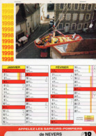 CALENDRIER  LES SAPEURS- POMPIERS DE NEVERS  Année 1998 Grand Format  6 Pages  Avec Photos - Calendriers