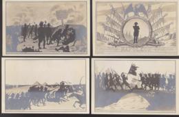 CPA - (Illustrateurs) Coulon - Série Napoléon - 4 Cartes (1 à 4) - - Illustrateurs & Photographes