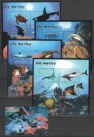 W819 DE GUINEE FISH & MARINE LIFE VIE MARINE !!! MICHEL 144 EURO 4KB+1BL MNH - Meereswelt