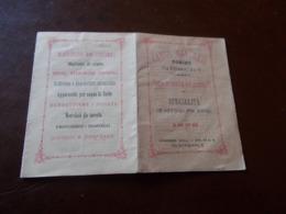 B736  Biglietto Da Visita Carlo Manfredi Torino 1878 Macchine Da Cucire Con Calendario Cm11x7,5 Presenza Alcune Pieghe - Cartoncini Da Visita