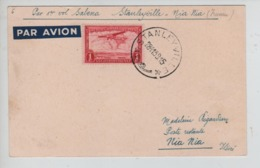 PR7329/ TPA 8 S/CP 1er Vol Sabena Stanleyville-Nia Nia (Irumu) C.Stanleyville 28/11/1939 > Nia Nia Ituri C.Irumu - Congo Belge