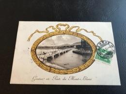 4 - GENEVE Et Pont Du Mont Blanc - 1912 Timbrée - GE Geneva