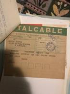 ITALCABLE STUPENDO TELEGRAMMA TRATTATIVE GIOCATORE Chinesinho - Non Classificati