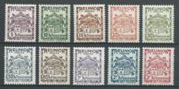 REUNION 1933 . Taxes . Série N°s 16 à 25 . Neufs ** (MNH) - Timbres-taxe