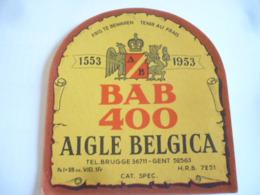 Belgische Bier Etiketten Aigle Belgica Brugge 3 Stuks - Alcohols