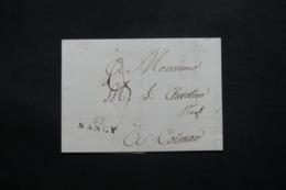 """FRANCE - Marque Postale """" 52 Nancy """" Sur Lettre Pour Colmar - L 42582 - Storia Postale"""
