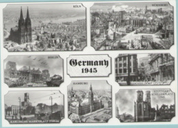 CPM:  GERMANY  1945:   Les Villes Allemandes Bombardées En 1945.    (E2356) - Guerre 1939-45