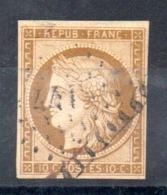 YT N° 1 - Cote: 350,00 € - 1849-1850 Ceres