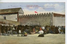 1566. CPA COLORISEE MAROC. CAMEL CAMP MOGADOR. CAMPEMENT DE CHAMEAUX 1913 - Otros