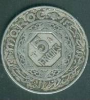 PIECE DE MONNAIE DE 5 FRANCS DU MAROC EMPIRE CHERIFIEN 1370 - Pia0209 - Marokko