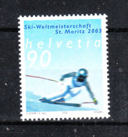 Svizzera   -  2002. Campionati Mondiali Di Sci A St Moritz. World Ski Championships MNH - Sci