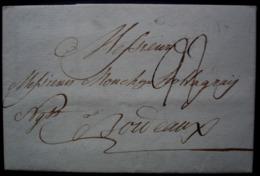 Ostende (Belgique) 1785 Lettre Pour Les Négociants Hollagray De Bordeaux (France) Marque OSTENDE - 1714-1794 (Pays-Bas Autrichiens)