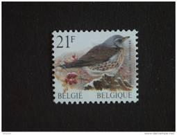 België Belgique Belgium 1998 Vogels Oiseaux Buzin Kramsvogel Grive Rouleau Rolzegel R87 2792 MNH ** - Coil Stamps