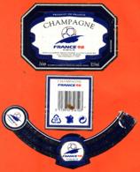 étiquette + Collerette De Champagne Brut Coupe Du Monde France 98 Marne Et Champagne à épernay - 75 Cl - Soccer