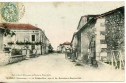 1578. CPA 24 PARCOUL. LA GRAND'RUE ROUTE DE BORDEAUX-ANGOULEME 1907 - Francia