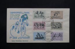 LUXEMBOURG - Enveloppe FDC En 1952 - Cyclisme Sur Route - L 42598 - FDC