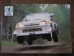 Carte Postale Voiture PEUGEOT Champion Du Monde Des Rallyes 1986 - Altri