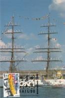 D38395 CARTE MAXIMUM CARD 1990 NETHERLANDS - SAIL AMSTERDAM TALL SHIP - SAILORS IN MAST SPEC. POSTMARK CP ORIGINAL - Autres