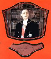 étiquette + Collerette De Champagne Brut Cuvée 3eme Lillénaire Général De Gaulle Pierre Mignon à Le Breuil -75 Cl - Politica (vecchia E Nuova)