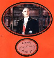 étiquette + Collerette De Champagne Brut Cuvée 3eme Lillénaire Général De Gaulle Pierre Mignon à Le Breuil -75 Cl - Política (antigua Y Nueva)