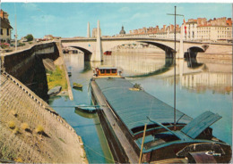CHALON SUR SAONE - Le Pont Saint Laurent - Péniche - Chalon Sur Saone