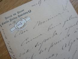 Emile AMBRE (1849-1898) Cantarice SOPRANO Art Lyrique. Peinte Par Manet En CARMEN. Opera. AUTOGRAPHE - Autographes