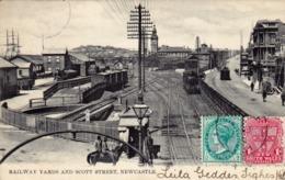 1860/ Railway Yards And Scott Street, Newcastle, Stoom Locomotief. - Newcastle